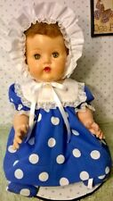"SSO DOLL CLOTHES NEW 4pc BLUE &POLKA DOT DRESS SET 4 VINTAGE 20"" TINY TEARS BABY"