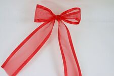 "( Set of 10) Pre-made 1-1/2"" ORGANZA Satin Edge Bows with Wire Tie Included"