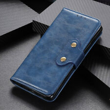 Luxury Retro Business Magnetic Flip Leather Wallet Card Holder Case For LG