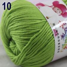 Sale New 1Ball x 50g Cashmere Silk Wool Hand Knit Wrap Shawls Crochet Yarn 10
