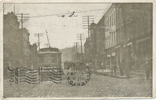 Corry PA * Trolley Scene and Durham's Drug Store Advertising   1907   Erie Co.