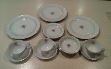 VINTAGE ROYAL SWIRL FINE CHINA OF JAPAN 3 PLACE SETTINGS,PLATE,BRD/BUT,FRUIT,CUP