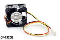 40x40x20mm 3-Pin DC Ball Bearing PC Computer Case Cooling Fan 7200RPM - CF-4320B