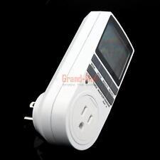 7*24h AC 110V 15A Digital LCD Display Wall Plug Timer Switch  Indoor Appliance