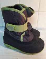 Kamik Canada Waterproof snow boots boys girls unisex kids size 6 black green