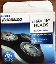 Genuine Philips Norelco SH30 Shaving Replacement Heads for 1000-3000 Series OEM