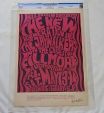 Fillmore Poster BG 6-OP-1: CGC Grade 8.5 Signed by Wes Wilson