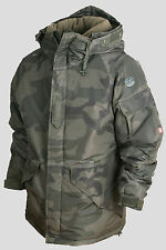 SouthPlay Herren Ski Snowboard Jacke Pullover Parka Mantel Klage Top- CAMO KHAKI