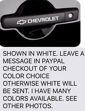 (4)pcs FOR CHEVROLET Car,Truck,Door Handle,Rims,laptop,Toolbox Vinyl Decals