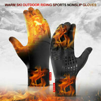 Mens Winter Warm Thermal Water Resistant Windproof Touch Screen Sports Gloves US