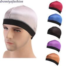 Unisex Dome Cap Men Women Hip Hop Hat Helmet Liner Biker Turban Bandanas Durags