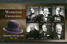 Micronesia 2015 MNH Winston Churchill 6v M/S Politicians World Leaders Stamps