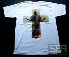 SUPREME BLACK MOSES TEE ISAAC HAYES WHITE LARGE STAX BOX LOGO FALL WINTER 2012
