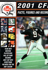 2001 CFL Fact Figures and Records Guide Damon Allen Cover