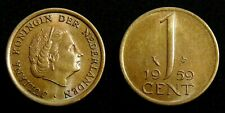 Netherlands - Juliana 1 Cent 1959 UNC originele muntkleur