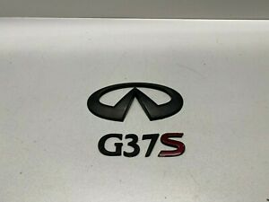 08-11 INFINITI G37S COUPE REAR TRUNK EMBLEM LOGO SET USED OEM B1