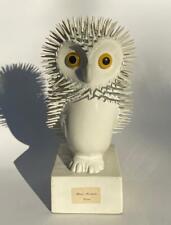 Vintage French Hotel Malherbe Souvenir Mystery Art Spike Nail Owl Bird Sculpture