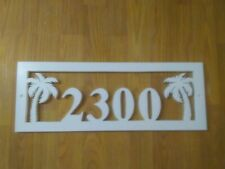 "House Numbers (4) in frame with Palm Trees PVC 20"" X 7"""