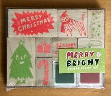 NEW Christmas Rubber Stamp Kit. Factory Sealed