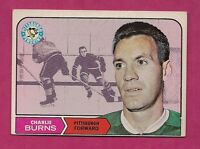 1968-69 TOPPS # 108 PENGUINS CHARLIE BURNS EX-MT CARD  (INV#0494)