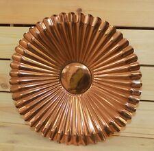 Vintage hand made ornate copper pedestal bowl