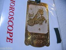 Horoscope goat Capricorn  Zodiac 24K Gold plated metal Bookmark book mark JAPAN