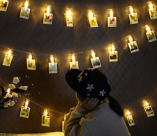 10/20/30/40 LED Photo Peg Clip LED Fairy Light Wedding Hanging Picture Decor