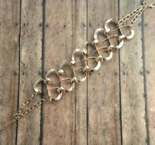 Mia Collection Chocker Necklace Gold Color Costume Jewelry