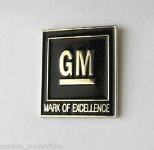 GENERAL MOTOR GM LOGO EMBLEM BLACK LAPEL PIN BADGE 3/4 INCH