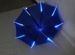 Umbrella With LED Light Up Changing Color Flashlight Night Eye-catching Umbrella