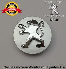 Peugeot 107 1007 206 207 3008 308 Caches moyeux-Centre roue jantes x4 Neuf