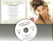 SHANIA TWAIN From this Moment on RARE SOLO VOCAL REMIX PROMO DJ CD Single 1998