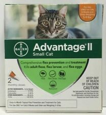 Bayer Advantage II Flea Prevention for small Cats 2 doses 5-9 lb New Release
