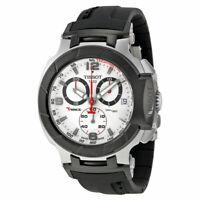 Tissot T-Race Chrono White Dial Black Rubber Men's Watch T048.417.27.037.00