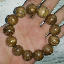 18 MM Awesome Aquilaria Agarwood Bracelet 13 Beads Aloeswood 16 Grams #06
