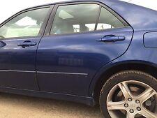 2001 LEXUS IS200 IS300 COMPLETE DOOR PASSENGER SIDE REAR NSR BLUE 8M6 #0209