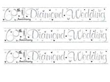 60TH 60 BANNER 2.5MTR DIAMOND ANNIVERSARY WEDDING PARTY se