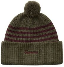 SUPREME STRIPE LOOSE GAUGE BEANIE OWL SANTE FE RIBBED HAT 5-PANEL HAT