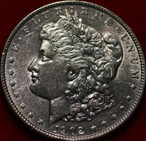 Uncirculated 1902 Philadelphia Mint Silver Morgan Dollar