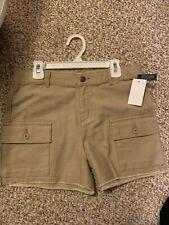 Oshkosh Girls Cutoff Khaki Shorts Size 14 NWTS