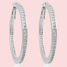 Creolen mit Kristallen von Swarovski® Silber 1 Paar Ohrringe 2. Wahl