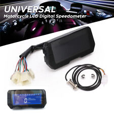 Universal LCD Motorcycle Speedometer Odometer RPM Kph Mph For 2 4 Cylinders