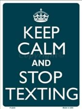 KEEP CALM & STOP TEXTING - WORK BOSS TEXT MOBILE PHONE - METAL PLAQUE SIGN A2244