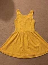 JJ Authentic Size Medium Yellow Lace Dress