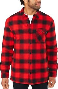 New 2019 Dakine Men's Hendrix Insulated Flannel Jacket Large True Red Plaid