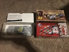 (4) JIMMIE JOHNSON 1:24 DIE-CAST STOCK CARS, COMPLETE IN BOXES-W/PAPERWORK, NEW