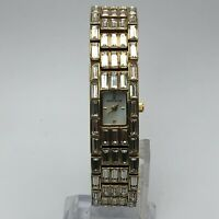 Anne Klein Womens 753H 10/6214 Gold Tone Crystal Accent Quartz Analog Wristwatch