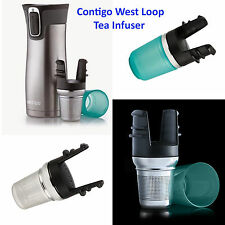 Contigo Tea Infuser for West Loop Travel Mug, Stainless Steel with drip cup