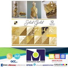 "DCWV®️ SOLID GOLD PAPER STACK 12""X12"" 12/PKG PS-005-00562"