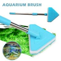 Aquarium Fish Tank Algae Cleaner Glass Triangle Brush Retractable Cleaning Tools